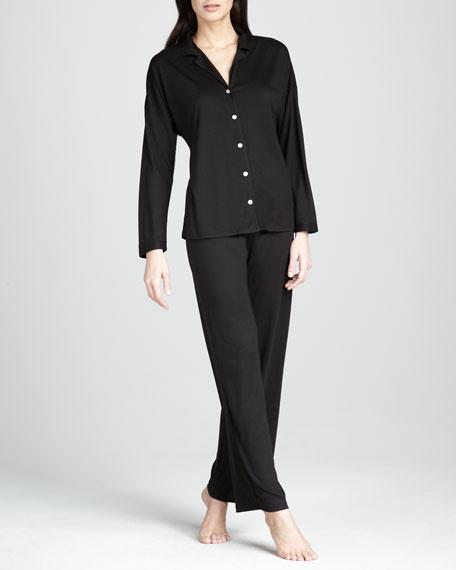 Zen Jersey Pajamas, Black