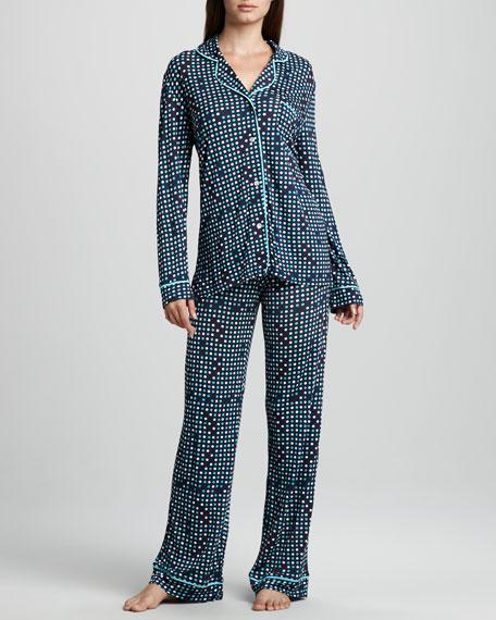 Bella Dot-Print Jersey Pajamas