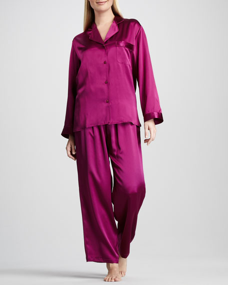 Tailored Silk Pajamas, Jelly