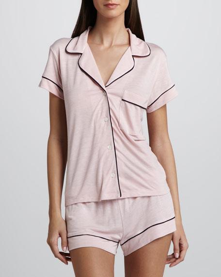 Gisele Short Pajamas, Cameo Pink/Navy
