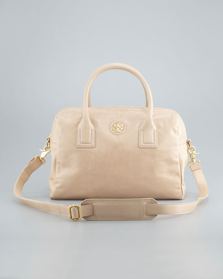 City Satchel Bag, Mid Camel