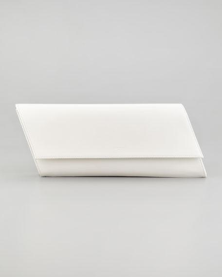 Diagonale Leather Clutch Bag, White