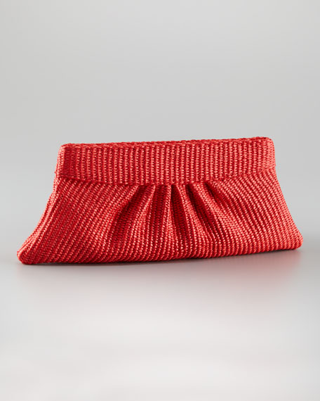 Louise Clutch, Bright Coral