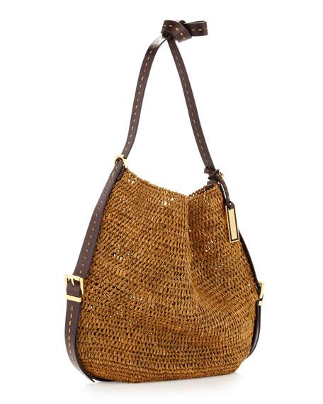 Santorini Raffia Crossbody Bag