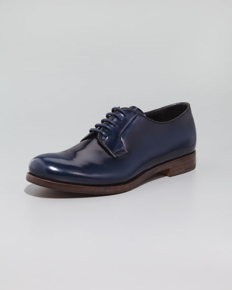 Lace-Up Oxford, Blue