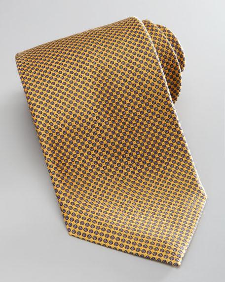 Mini Diamond Silk Tie, Yellow