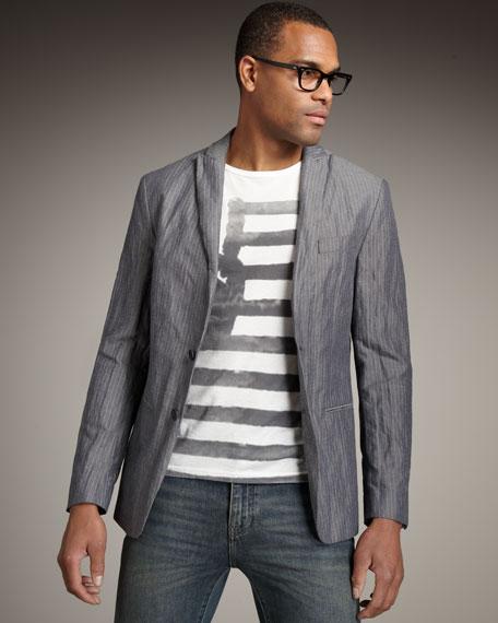 Soft Pinstripe Jacket