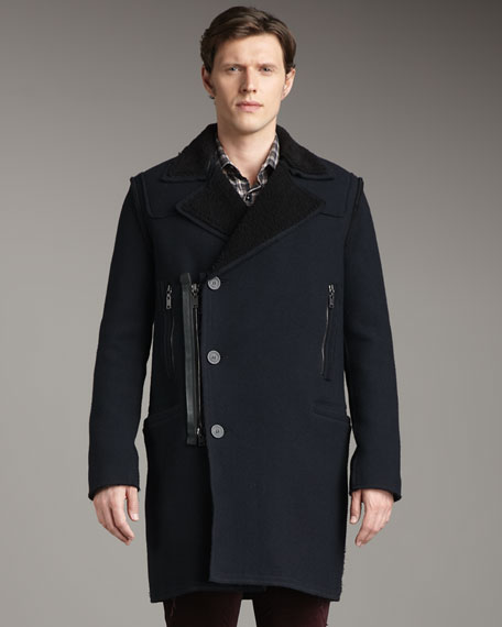 Lanvin Shearling-Lined Runway Coat