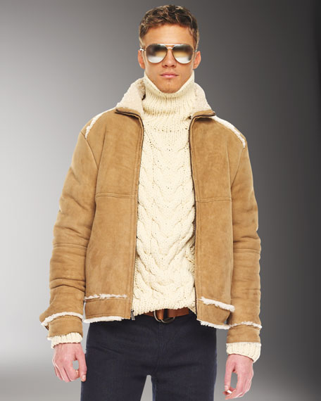 Shearling Racing Jacket