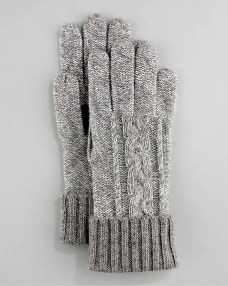 Touch-Screen Cashmere Glove, Gray