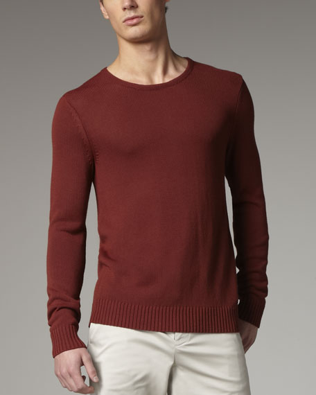 Wool Sweater, Dark Flame