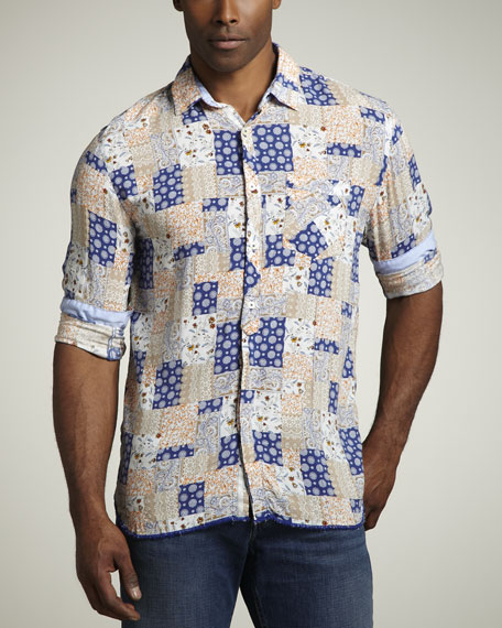Patchwork Sport Shirt