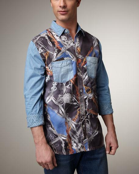 Belt Print Shirt