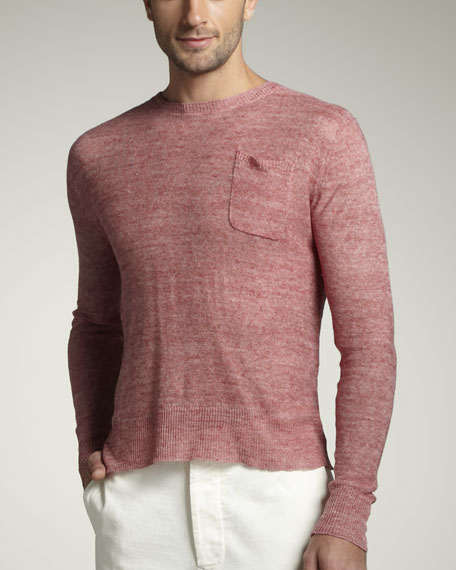 Linen Sweater, Red