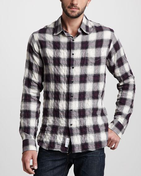 Crinkled Plaid Shirt