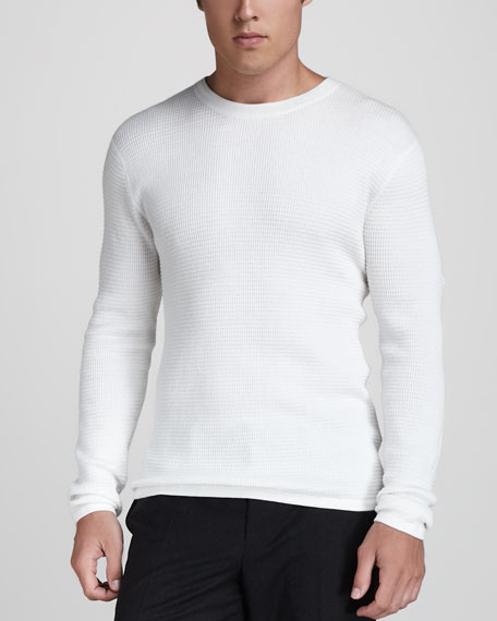 Long-Sleeve Thermal Tee, White