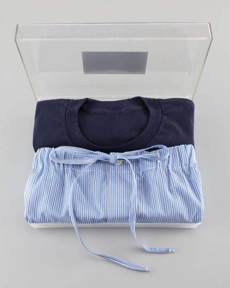 Gift Boxed Pajama Set, Navy