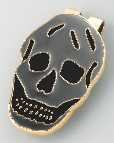 Enamel Skull Money Clip, Black/Gray