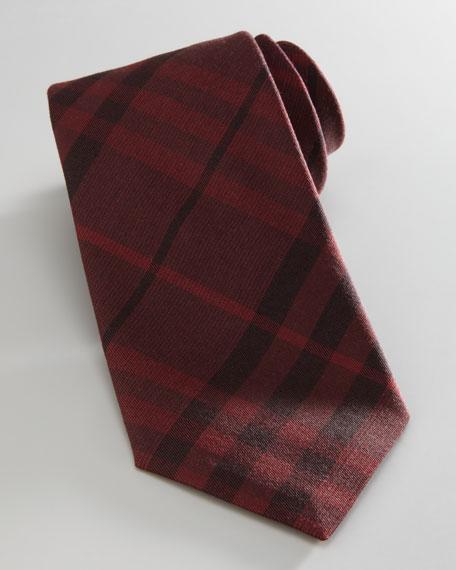 Check Tie, Dark Red
