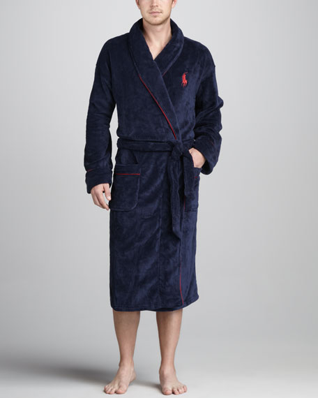Microfiber Robe, Cruise Navy