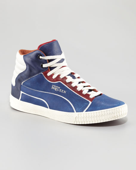 Street Climber II Mid-Top Sneaker, Navy/Red