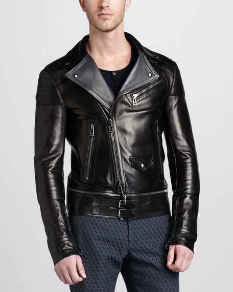 Colwyn Leather Motorcycle Jacket