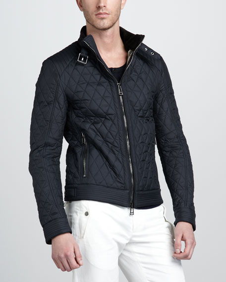 Brambley Quilted Racer Jacket