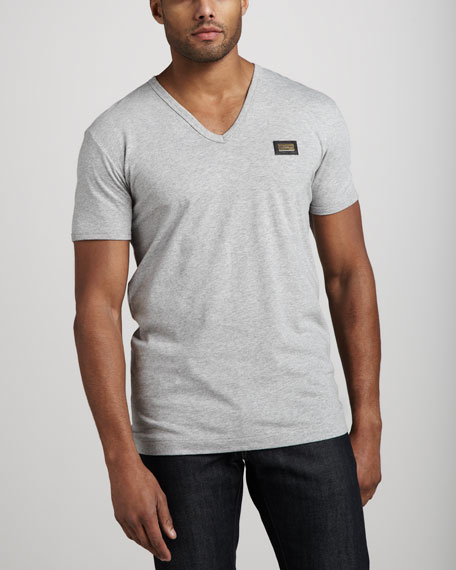 Logo-Plaque V-Neck Tee