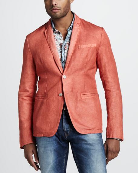 Cotton-Linen Blazer