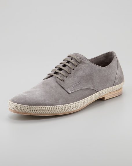 Rope-Trim Lace-Up Shoe