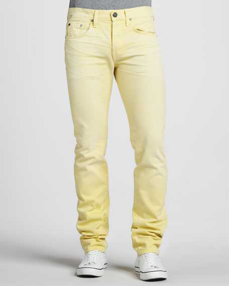 Kane Slim Lemon Yellow Jeans