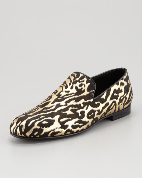 Sloane Leather Slipper, Zebra