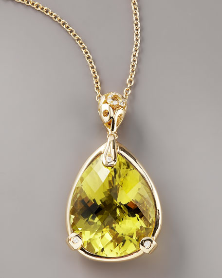Lemon Quartz Mauresque Necklace