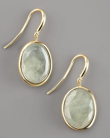 Green Sapphire Drop Earrings