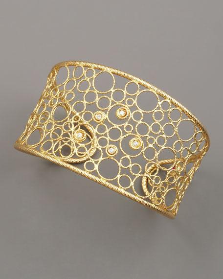 18K Bollicine Diamond Cuff