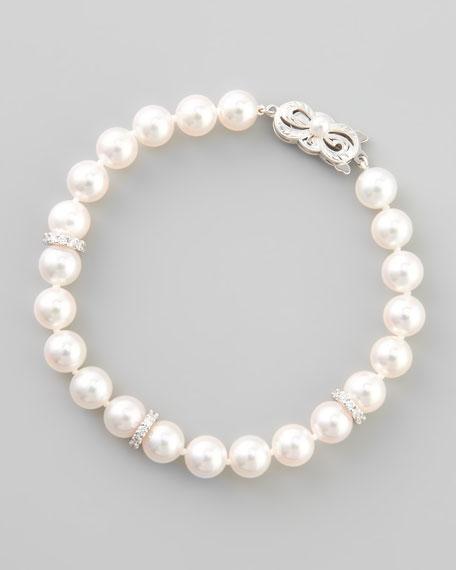 Akoya Pearl Bracelet,  7.5 x 7mm