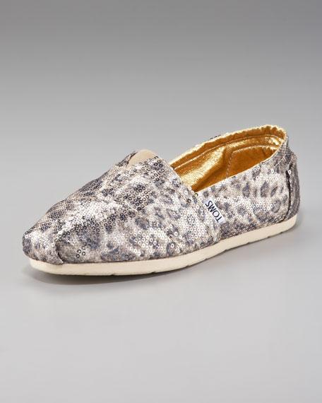 Sequined Leopard-Print Slip-On
