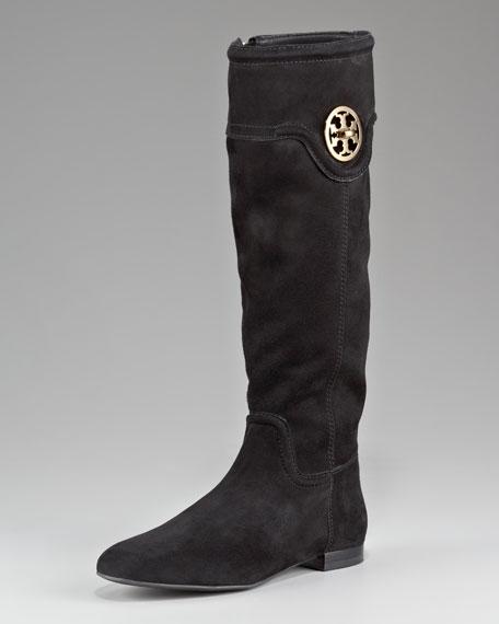 Selma Logo Flat Knee Boot