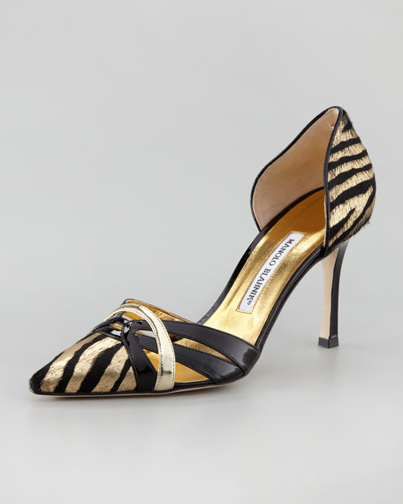 Metallic Calf Hair d'Orsay