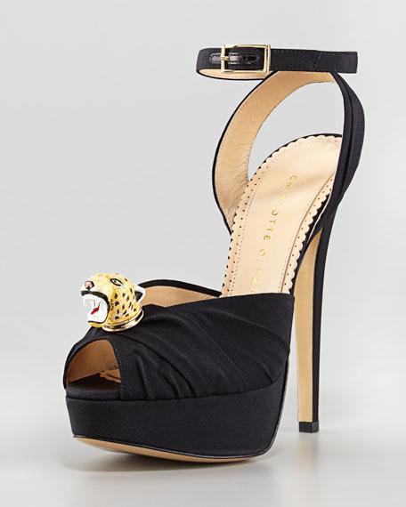 Bruce Enamel Leopard Sandal