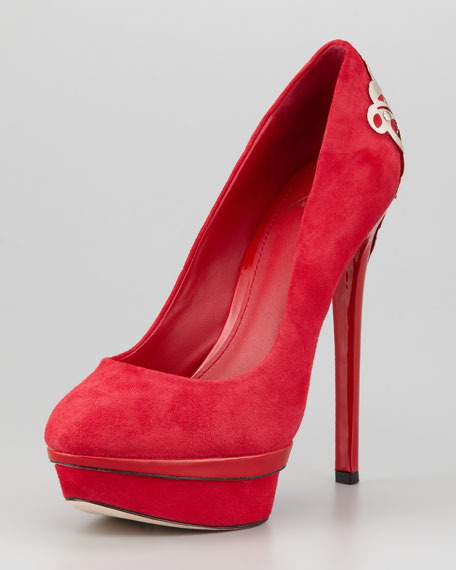 Fashina Platform Pump, Red