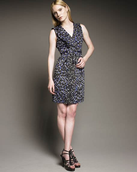 Elie Tahari Donna Leopard-Print Dress