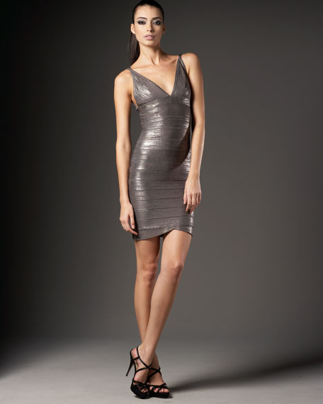 Metallic Minidress