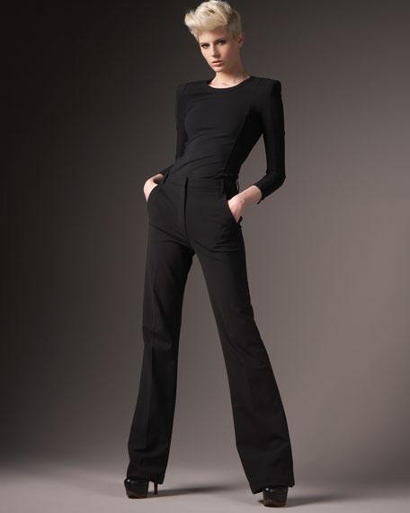 Tailored Wide-Leg Pants