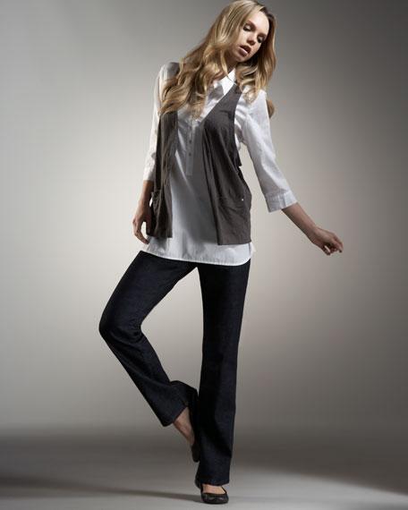 Organic Straight-Leg Jeans, Women's