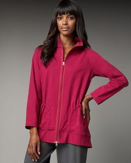 Front-Zip Tunic Jacket