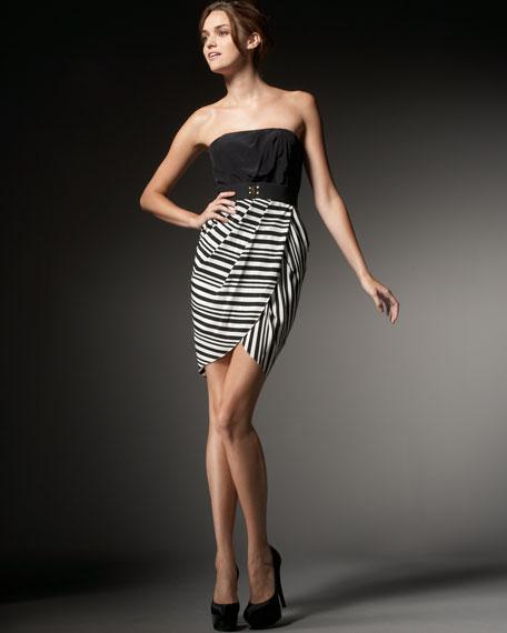 Strapless Combo Dress