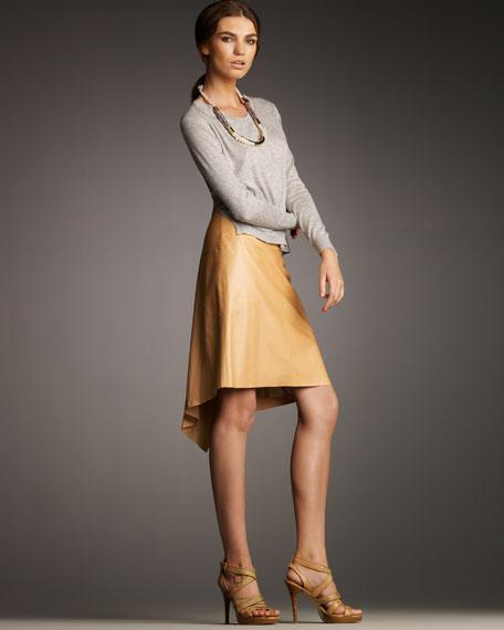Leather Fishtail Skirt