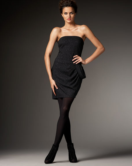 Strapless Draped Dress