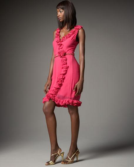 Belted Ruffle Dress